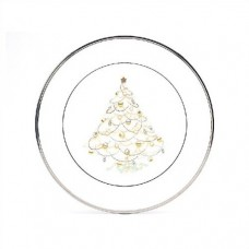 Noritake Palace Christmas Platinum Holiday Accent Plate NTK2615