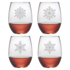 Susquehanna Glass Paper Snowflakes 21 oz. Stemless Wine Glass ZSG3894