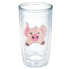 Tervis Tumbler Totally Kids Pig Front and Back Plastic Every Day Glass TTT15407