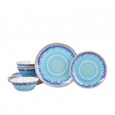 222 Fifth Sea Splash 12 Piece Melamine Dinnerware Set, Service for 4 PTSA1245
