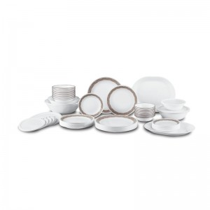 Corelle Sand Sketch Living Ware 74 Piece Dinnerware Set, Service for 12 REL2369