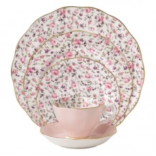 Royal Albert Rose Confetti Vintage formal 5 Piece Bone China Place Setting, Service for 1 RAL1409