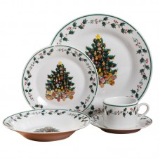 The Holiday Aisle Tree 20 Piece Dinnerware Set, Service for 4 THDA6580