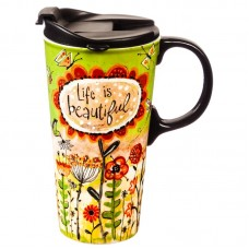 August Grove Mikonos Life is Beautiful Travel Mug AGTG4461