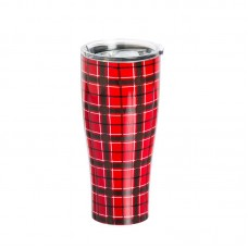 Loon Peak Stodghill Red Plaid Travel Mug LOPK7213