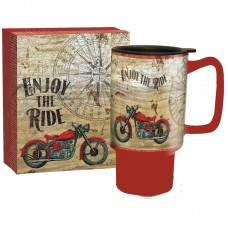 Red Barrel Studio Harlan Vintage Motorcycle Travel Mug RBRS6717