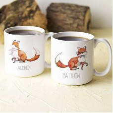 Cathys Concepts Personalized 2 Piece 20 Oz. Fox Large Coffee Mug Set YCT4498