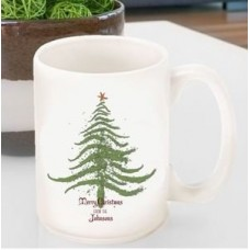 The Holiday Aisle Personalized Vintage Christmas Tree Coffee Mug THLY4289