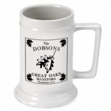 JDS Personalized Gifts Personalized Gift Cabin Series Stein 16 oz. Ceramic Pint Glass JMSI1593
