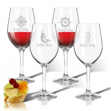 Carved Solutions Personalized 4 Piece Tritan 12 Oz. All Purpose Wine Glass WXH1554