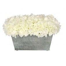 Highland Dunes Artificial Rectangle Hydrangea in Planter HLDS1615