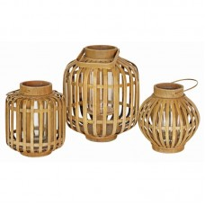 Bay Isle Home Bamboo/Glass Lantern BYIL4987