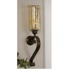 Darby Home Co Reitman Glass and Metal Wall Sconce DBHC6530
