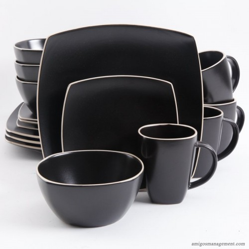Mint Pantry Kendell 16 Piece Dinnerware Set, Service For 4 MNTP2805