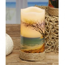 Highland Dunes LED Real Wax Beach Unscented Flamless Candle HIDN3238