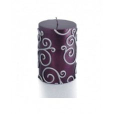 Willa Arlo Interiors Scroll Unscented Pillar Candle WLAO3265