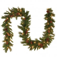 National Tree Co. Pre-Lit Pine Cone Garland NTC1185