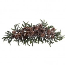 Nearly Natural Iced Pine Cone Swag TXN4268