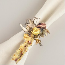 Golden Hill Studio Feather and Ribbon Napkin Ring GHIL1336