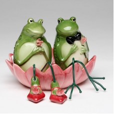 CosmosGifts Frog 2 Piece Salt and Pepper Set SMOS1322