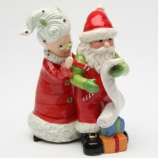 CosmosGifts Mrs.Claus and Santa Naughty or Nice 2-Piece Salt And Pepper Set SMOS1475
