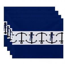 Breakwater Bay Hancock Anchor Stripe Print Placemat BRWT2893