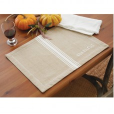 Mud Pie™ Grainsack Thankful Placemat MDPI2319