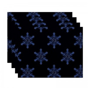 The Holiday Aisle Flurries Holiday Print Placemat HLDY5824
