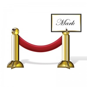 The Holiday Aisle Awards Night Stanchion Place Card HLDY8285