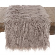 Rosdorf Park Lawless Faux Fur Table Runner ROSP8081