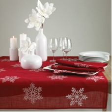 The Holiday Aisle Snowflake Table Runner THLA3358