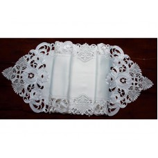 Xia Home Fashions Delicate Lace Embroidered Cutwork Table Runner XIAH1944