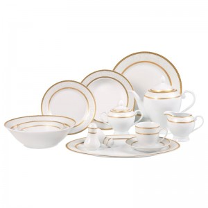 Lorren Home Trends Amelia 57 Piece Dinnerware Set, Service for 8 LHT1030