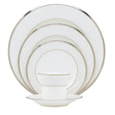 Noritake Silver Palace Bone China 5 Piece Place Setting, Service for 1 NTK3097