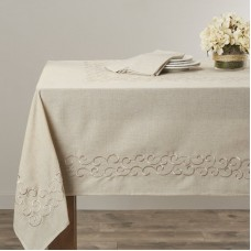Lark Manor Jean Scroll Design Tablecloth LRKM2466