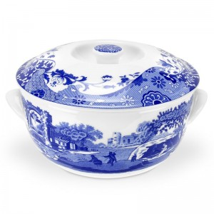 Spode Blue Italian Covered Vegetable Bowl SPD1878