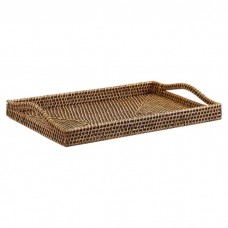 Gate House Furniture Rattan Bali Weave Rectangle Serving Tray GAHF1005