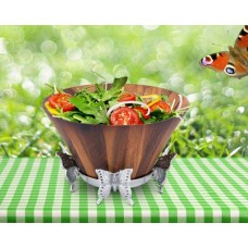 Arthur Court Coastal Butterfly Wood Salad Bowl ARCT1158