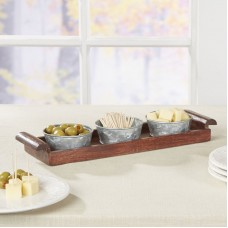 Birch Lane™ Besson 4-Piece Rosewood and Iron Server Set BL17196