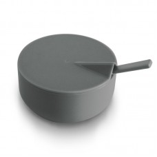 Rebrilliant Emmert Slate Melamine Condiment Server with Spoon REBR6013