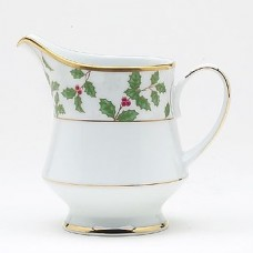 Noritake Holly and Berry Gold 8 oz. Creamer NTK3566