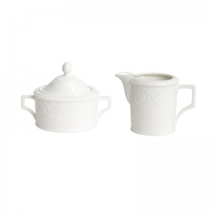Red Vanilla Riviera Covered Sugar Bowl Creamer Set RVZ1097