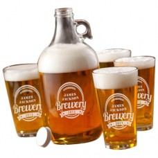JDS Personalized Gifts 5 Piece Growler Set JMSI1103