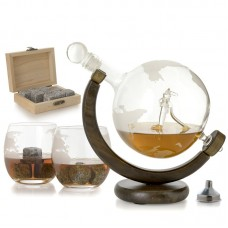 Loon Peak Rossetti Airplane Globe 3 Piece Beverage Serving Set XTBJ1003