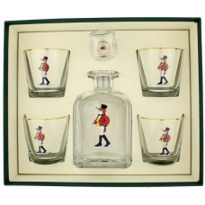 Richard E. Bishop 5-Piece Snooty Fox Decanter Set REBI1020