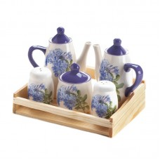 August Grove Eamonn Mini Dolomite 6 Piece Ceramic Tea Set AGTG2489
