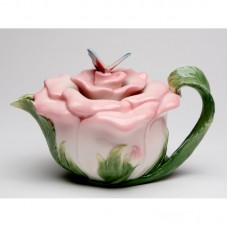 August Grove Kwon Butterfly on Rose 0.38-qt. Teapot AGTG3631