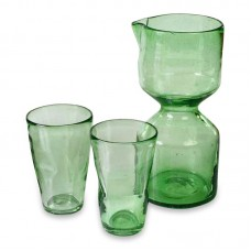 Novica 3 Piece Glass Beverage Serving Set NVC8389