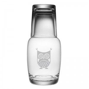Susquehanna Glass 2 Piece Hoot Owl Night 32 oz. Carafe Set ZSG4257