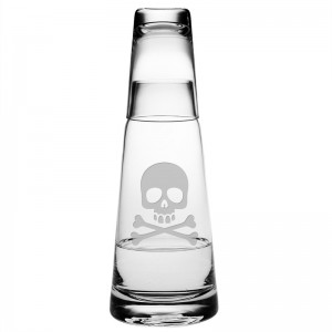 Susquehanna Glass 2 Piece Skull and Crossbones Cone Night 29.5 oz. Carafe Set ZSG4267